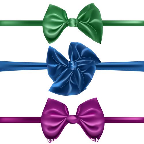 Three colors ribbon vector