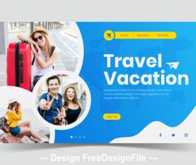 Travel vacation page illustration template vector