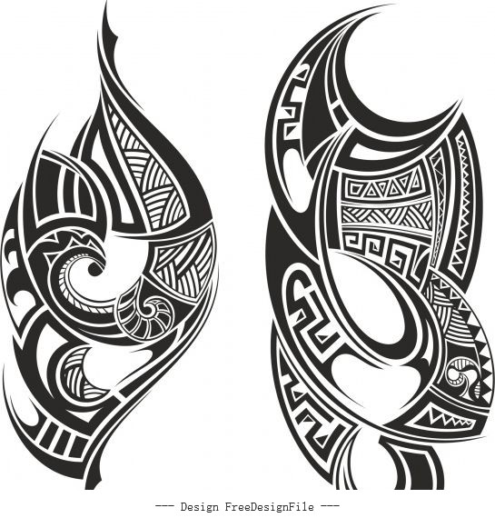 Tribal tattoo free cdrs art vector