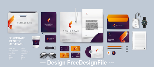 Two-tone background corporate branding identity template vector