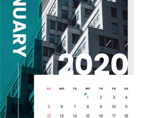 Various building covers 2020 calendar vector 01