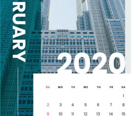 Various building covers 2020 calendar vector 02