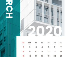 Various building covers 2020 calendar vector 03