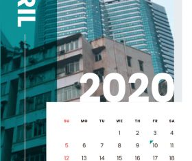 Various building covers 2020 calendar vector 04