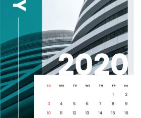 Various building covers 2020 calendar vector 05