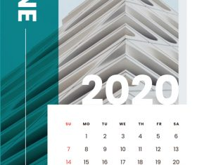 Various building covers 2020 calendar vector 06