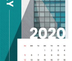 Various building covers 2020 calendar vector 07