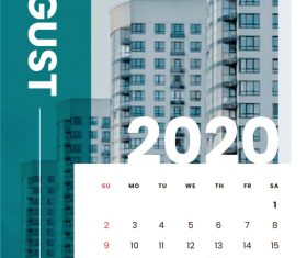 Various building covers 2020 calendar vector 08