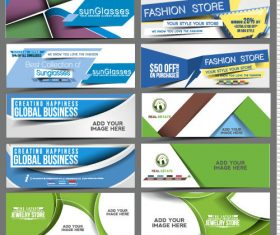 Various label banner collection vector