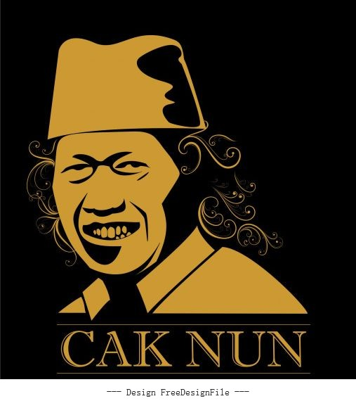 Cak nun vector design