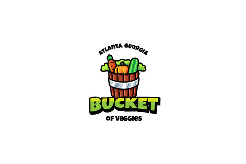 Veggies bucket mascot esport logo template vector