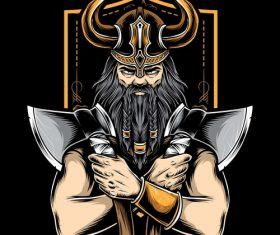 Viking Tattoo logo design vector
