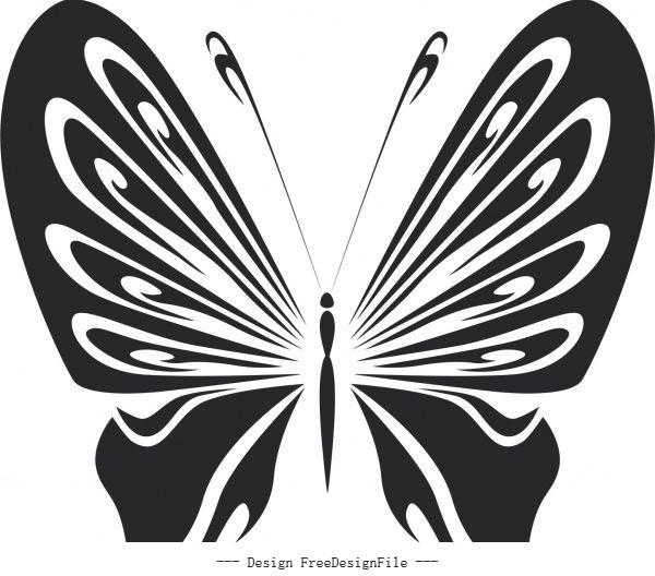 Vintage butterfly stencils free vector design