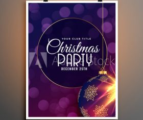 Virtual background Christmas party flyer template vector