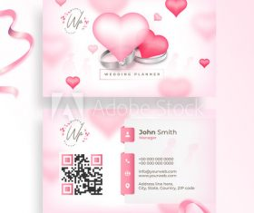 Wedding business cards design vector