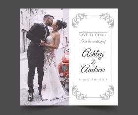 Wedding photo template vector