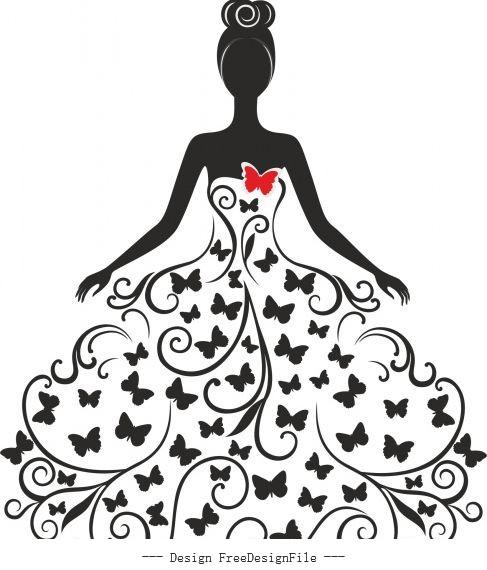 Wedding silhouette free cdrs art design vectors