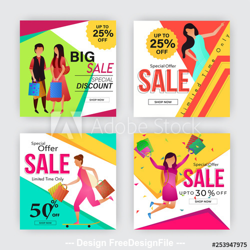 Welcome snap holiday discount poster design vector