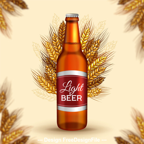 Wheat beer poster vector