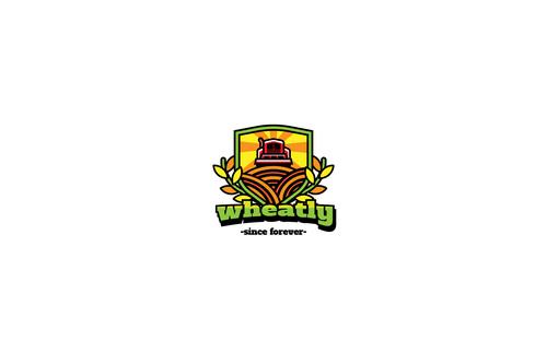 Wheat tractor mascot esport logo template vector