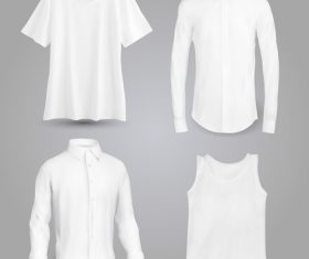 White T-shirt shirt and shirt vector