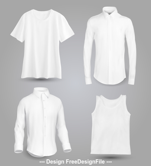 White T shirt shirt and shirt vector