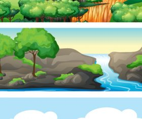 Wild nature landscape vector