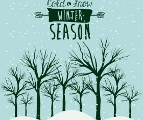 Winter Landscapes vector