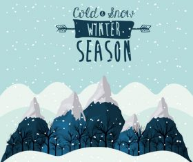 Winter Snow Landscapes vector