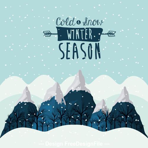 Winter Snow Landscapes vector
