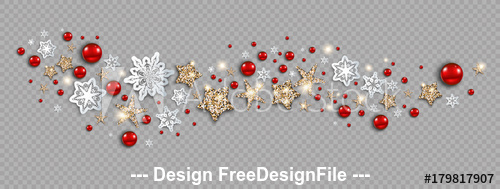 Winter christmas holiday banner vector