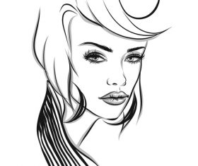 Woman sketch vector