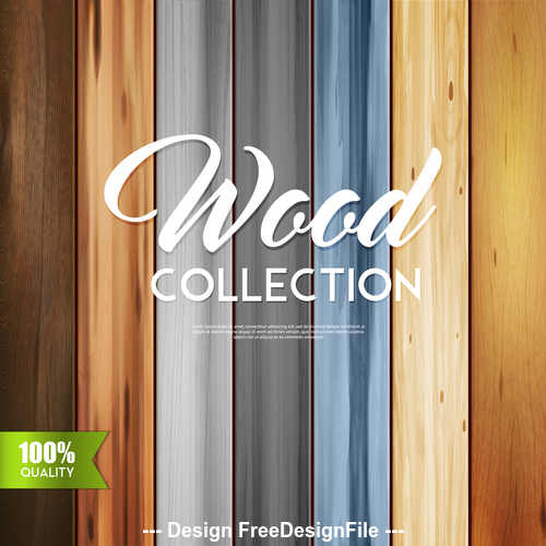 Wooden colored texture vector