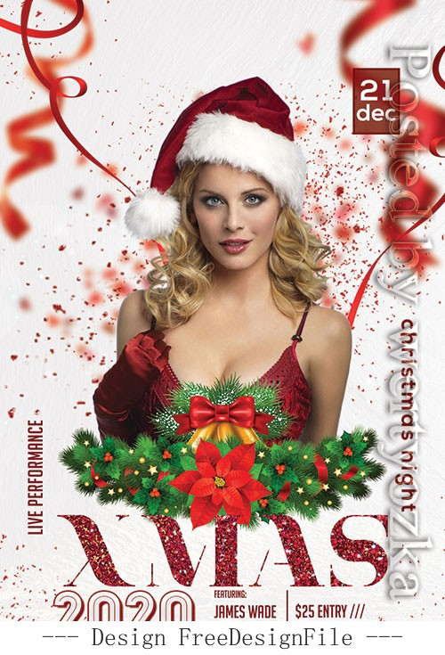 Xmas 2020 Poster and Flyer PSD Template