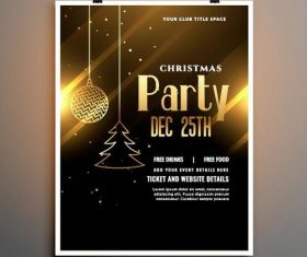 Xmas party flyer card vector