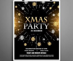 Xmas party flyer vector