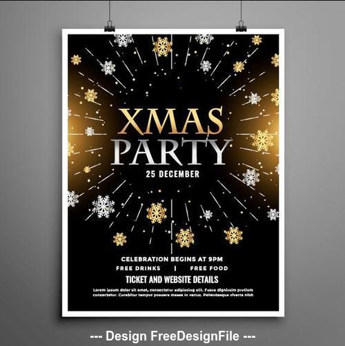 Xmas party flyer vector
