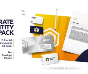 Yellow background corporate brand image design vector