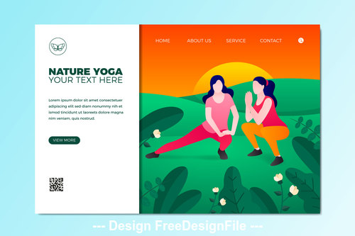 Yoga illustration template vector