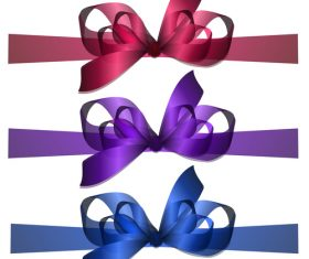bowknot colored vector