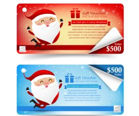 christmas gift voucher tag banner style vector