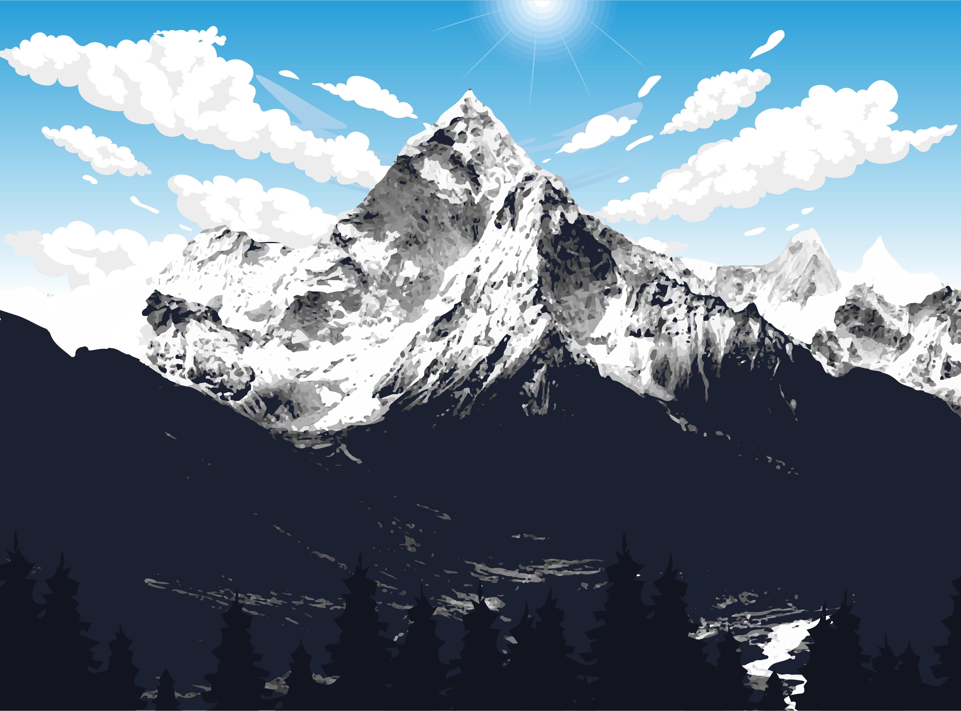 Everest mountain vector