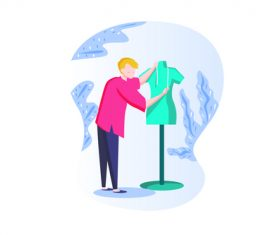 fashion designer vector
