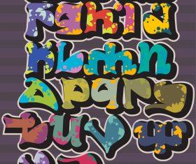 Mushroom style graffiti fonts