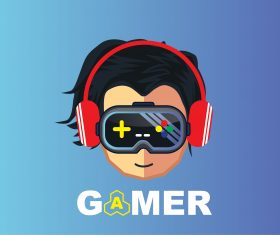 gamer icon character design cartoon