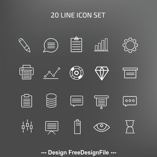 line icon set vector