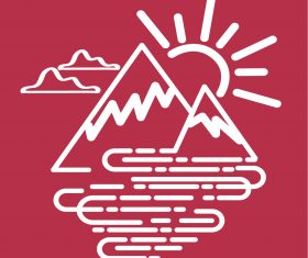 Simple mountain icon