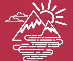 Simple mountain icon