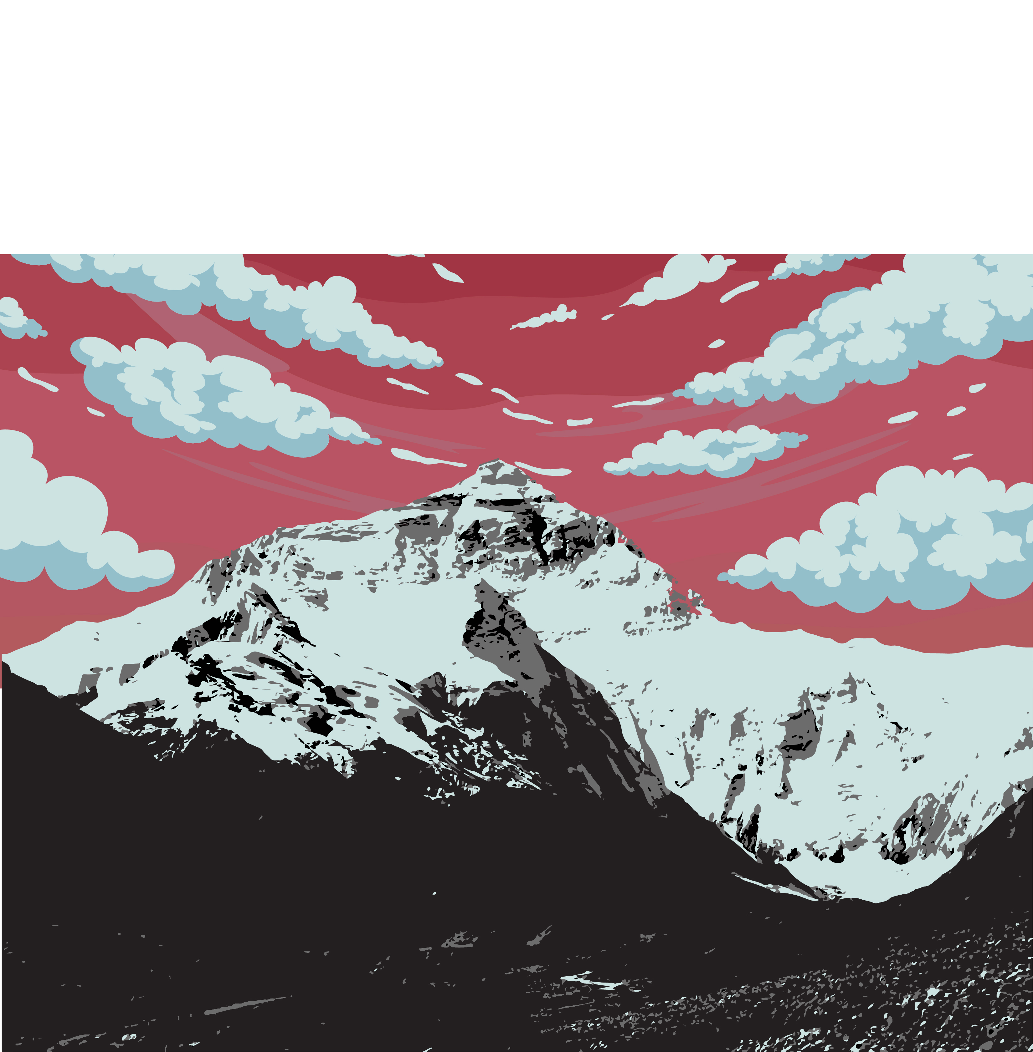 Red sky mountain