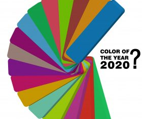 pantone color 2020 year background vector